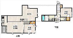 福岡県福岡市東区箱崎1丁目の賃貸アパートの間取り