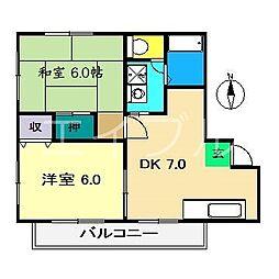 Heights SAGA[2階]の間取り