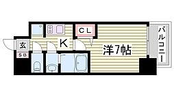プレサンス三宮東フィール[5階]の間取り