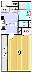 BRAINS京都衣笠[202号室]の間取り
