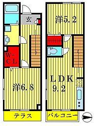[テラスハウス] 東京都葛飾区東水元3丁目 の賃貸【/】の間取り