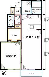 西武国分寺線 恋ヶ窪駅 徒歩11分の賃貸アパート 1階1LDKの間取り
