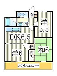 鈴喜マンション[2階]の間取り