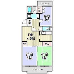 コスモ・ラ・フォ−レ清瀬[4階]の間取り