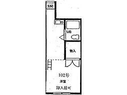 ハイツ神戸[1階]の間取り