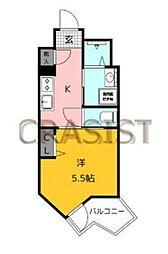 福岡市地下鉄空港線 赤坂駅 徒歩13分の賃貸マンション 1階1Kの間取り