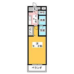 三重県桑名市駅元町の賃貸マンションの間取り