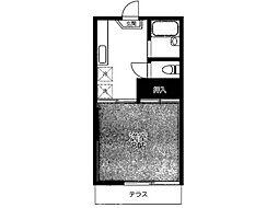 コーポ井上[1階]の間取り