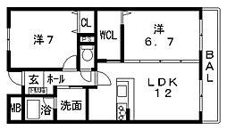 ポラリスA棟[103号室号室]の間取り