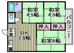 池田ハイツ[205号室]の間取り