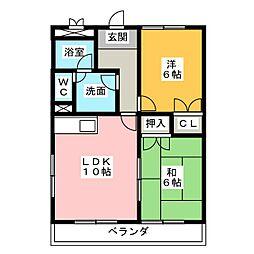 メゾンフロント1[2階]の間取り