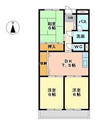 アベニュー上田[2階]の間取り
