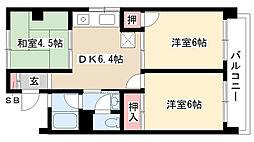 愛知県名古屋市瑞穂区佐渡町2丁目の賃貸マンションの間取り