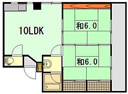 シャンボール翠[2階]の間取り