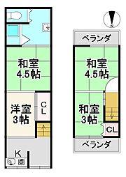 京福電気鉄道嵐山本線 有栖川駅 徒歩12分 4Rの間取り