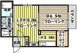 ブルーキューブ[1階]の間取り