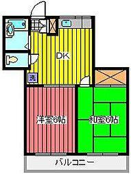 マンションシラヌイ[3階]の間取り