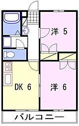 リアン飾東A[2階]の間取り