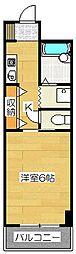 フェニックス二日市第一ビルディング[3-4F号室]の間取り