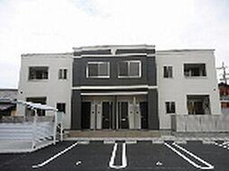 愛知県あま市七宝町安松下屋敷の賃貸アパートの外観