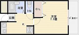 ベルクレーネユー[2階]の間取り