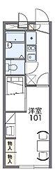 JR赤穂線 西大寺駅 バス3分 観音寺入り口下車 徒歩5分の賃貸アパート 2階1Kの間取り