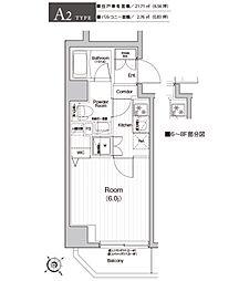 神奈川県横浜市中区吉田町の賃貸マンションの間取り