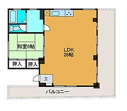 草柳ビル[4階]の間取り