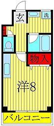 興亜第3マンション[3階]の間取り