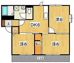 グリーンキャッスル(成田)[102号室号室]の間取り