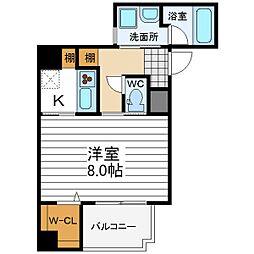 シリウスコート四天王寺[4階]の間取り