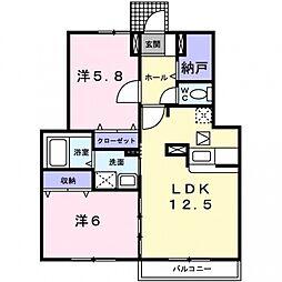 フルリールコート[1階]の間取り