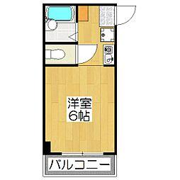 ドミール松田[20A号室]の間取り