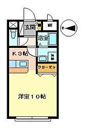 グロース佐賀駅前[106号室号室]の間取り