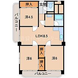 中之島グランドマンション601号[6階]の間取り