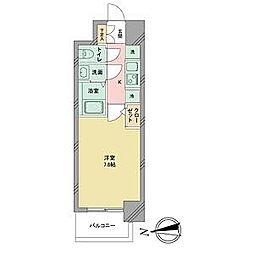 名古屋市営名城線 志賀本通駅 徒歩2分の賃貸マンション 6階1Kの間取り