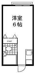 東京都練馬区豊玉北6丁目の賃貸アパートの間取り