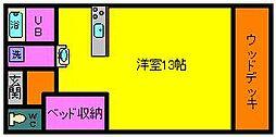 宮崎県都城市吉尾町の賃貸アパートの間取り