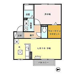 グランメールN[2階]の間取り