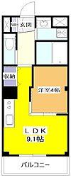 JR中央本線 武蔵小金井駅 バス16分 小平第2小学校前下車 徒歩3分の賃貸マンション 2階1LDKの間取り