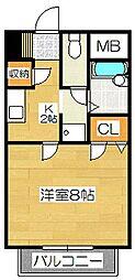 エスペランサ筑紫野II[2階]の間取り