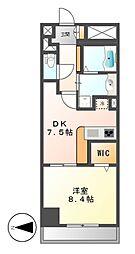 カスタリア新栄II(ロイジェント新栄I)[8階]の間取り