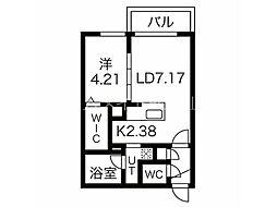 エフェクト南11条 A棟(旧名称:仮)南11条西8丁目MS A棟) 3階1LDKの間取り