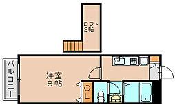 ソシア吉塚 A[2階]の間取り