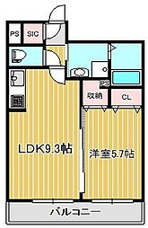 神奈川県川崎市中原区木月大町の賃貸マンションの間取り