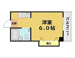ヴァンヴェール西井[3階]の間取り