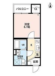 愛知県名古屋市瑞穂区大喜新町2丁目の賃貸アパートの間取り