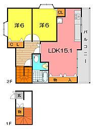 エトワール塚口[2階]の間取り