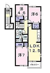デライトコートI[2階]の間取り