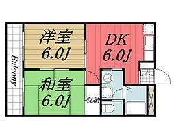 千葉県佐倉市大蛇町の賃貸アパートの間取り